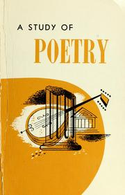 Cover of: A study of poetry