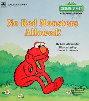 Cover of: No red monsters allowed!