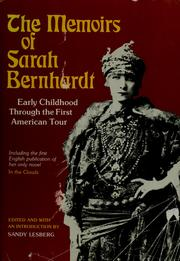 Cover of: The memoirs of Sarah Bernhardt