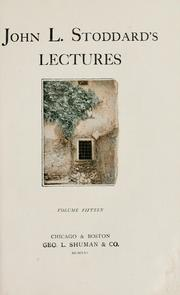 Cover of: John L. Stoddard's lectures