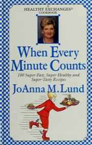 Cover of: When every minute counts