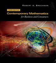 Cover of: Contemporary mathematics for business and consumers