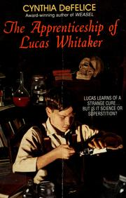 Cover of: The apprenticeship of Lucas Whitaker