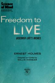 Cover of: Freedom to live