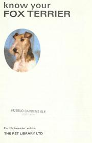 Cover of: Know your fox terrier