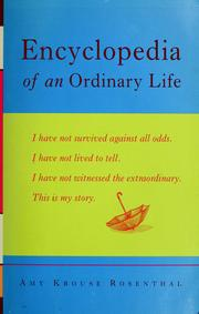 Cover of: Encyclopedia of an ordinary life
