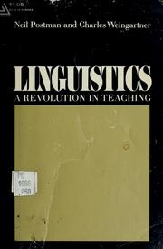 Cover of: Linguistics: a revolution in teaching