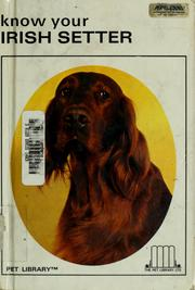 Cover of: Know your Irish setter