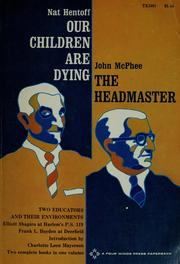 Cover of: Our children are dying