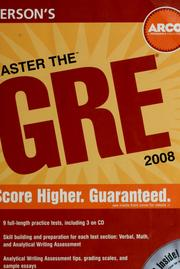 Cover of: Peterson's master the GRE 2008