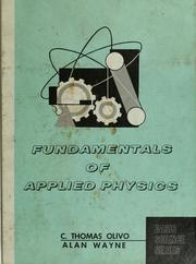 Cover of: Fundamentals of applied physics