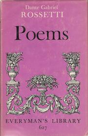 Cover of: Rossetti's poems