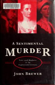 Cover of: A sentimental murder