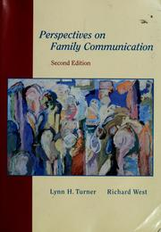 Cover of: Perspectives on family communication