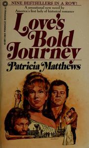 Cover of: Love's bold journey