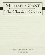 Cover of: The classical Greeks