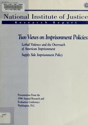 Cover of: Two views on imprisonment policies