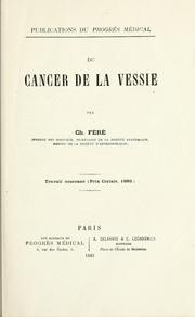 Cover of: Du cancer de la vessie