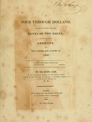 Cover of: A tour through Holland