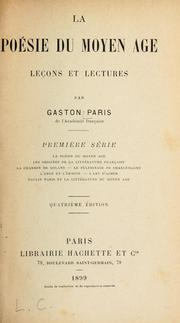 Cover of: La poesie du moyen age