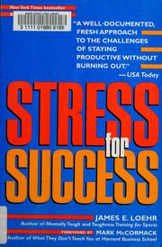Cover of: Stress for success