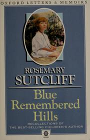 Cover of: Blue remembered hills