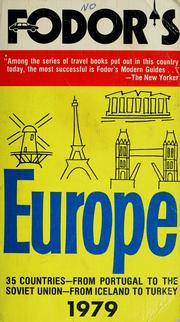 Cover of: Fodor's Europe, 1979