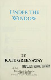 Cover of: Under the window