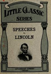 Cover of: Speeches by Lincoln