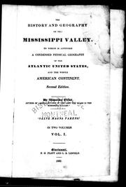 Cover of: The history and geography of the Mississippi Valley