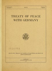 Cover of: Treaty of peace with Germany ...