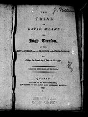Cover of: The trial of David McLane for high treason