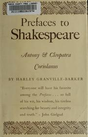 Cover of: Prefaces to Shakespeare