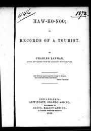 Cover of: Haw-ho-noo, or, Records of a tourist
