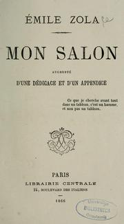 Cover of: Mon salon: Manet, écrits sur l'art