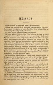 Cover of: Message [to Congress (first session, 38th Congress), December 8, 1863]