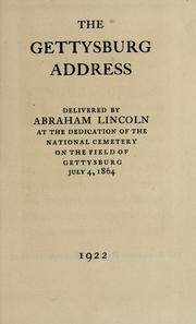 Cover of: The Gettysburg address