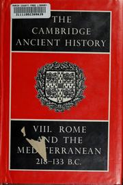 Cover of: Rome and the Mediterranean, 218-133 B.C.