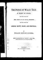 Cover of: The Prince of Wales' tour