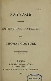 Cover of: Paysage