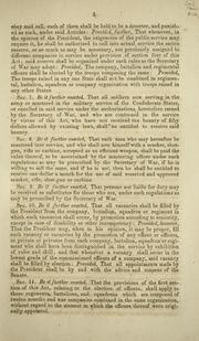 Cover of: An act to further provide for the public defence