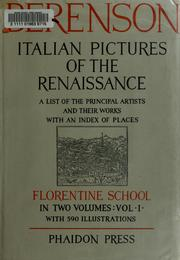 Cover of: Italian pictures of the Renaissance
