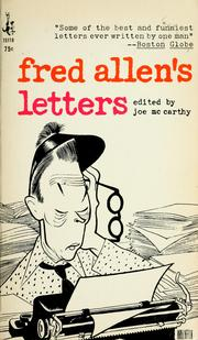 Cover of: Fred Allen's letters