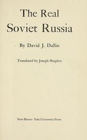 Cover of: The real soviet Russia