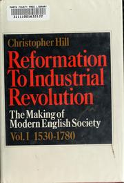 Cover of: Reformation to industrial revolution