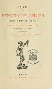 Cover of: La vie de Benvenuto Cellini