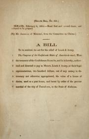Cover of: A bill to be entitled An act for the relief of Leach & Avery