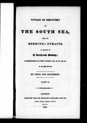 Cover of: Voyage of discovery in the South Sea, and to Behring's Straits, in search of a north-east passage