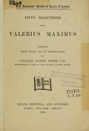 Cover of: Fifty selections from Valerius Maximus