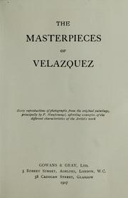 Cover of: The masterpieces of Velazquez